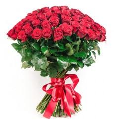 Букет из 49 красных роз  «Любовь и Страсть»