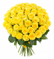 Букет из 49 желтых  роз  «Согревающий сердце»