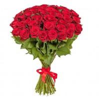 Букет из 51 красной эквадорской розы Фридом «Сердце рыцаря»