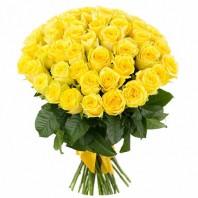 Букет из 51 жёлтой розы Сфинкс «Воссоединение сердец»