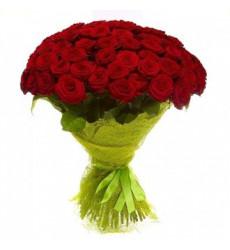 Букет из 61 красной розы  «Алый рассвет »