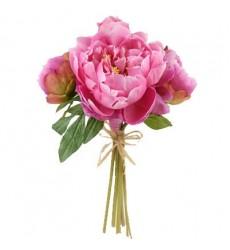 Букет невесты из 5 розовых пионов «Бал для двоих»