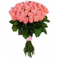 Букет из 51 розовой розы «Донна Роза»