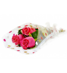 Букет из 3 бордовых роз «Чарующие чувства »