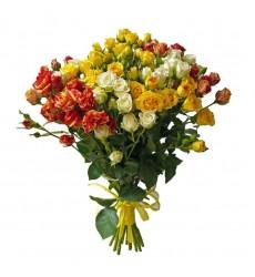 Букет  из 11 кустовых роз «Летний денек»