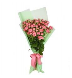 Букет  из 11 кустовых роз «Летняя прогулка»