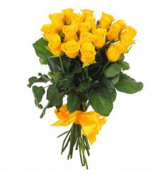 Букет  из 12 желтых роз  «Согретое сердце»