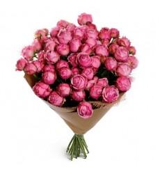 Букет из 19 пионовидных роз Мисти Баблз «Минуты счастья»