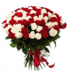 Букет  из 201 розы 90 см. «Викторианская романтика»