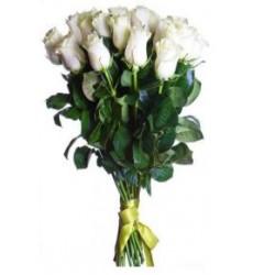 Букет  из 21 розы 90 см. «Невеста»