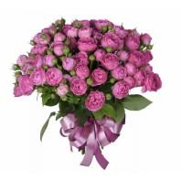 Букет из 29 пионовидных роз Мисти Баблз «Танец Кармен»