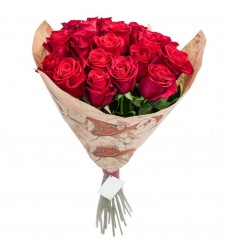 Букет из 31 белой и розовой розы  «Любовный перекресток »