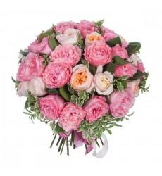 Букет  из 35 пионовидных роз Кейра, Джульетта и Ив Пьеже «Бал цветов»