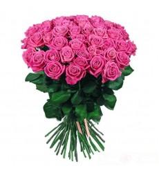Букет  из 45 розовых роз «Заветная мечта»