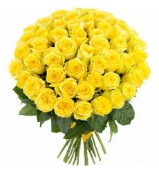 Букет  из 45 желтых роз «Тепло любви»