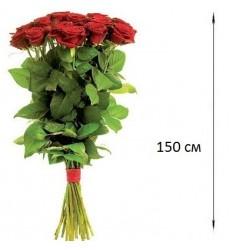 Букет  из 5 роз 150 см. «Сияние любви»