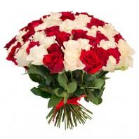 Букет из 55 элитных эквадорских роз «Возвышенная любовь»