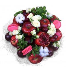 «Букет из фруктов, макарони и хлопка»