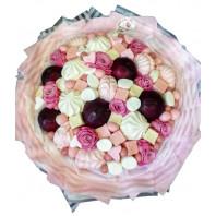 «Букет из фруктов, зефира и цветов»