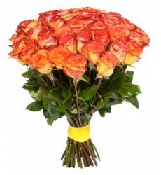 Букет  из 51 розы 90 см. «Райский поцелуй »