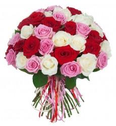 Букет из 35, 51 или 101 розы «Мой тайный роман»
