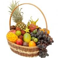 Фруктовая корзина из экзотических фруктов «Тропиканка»