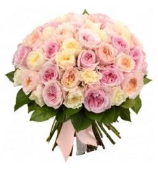 Букет из 51 розы Остина «Джайпур»