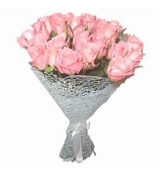 Букет из 25 нежно-розовых роз «Повесть о нежности»