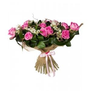 Букеты из розовых роз «Романтическая мечта»