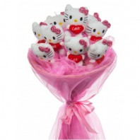 Букет из 9 игрушек Hello Kitty «Милый привет»