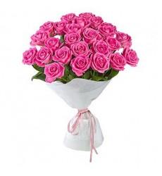 Букет из 25 розовых роз «Миледи»