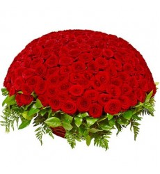 Корзина цветов с 201 красной розой «Плеяда чувств»