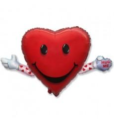 Воздушный шар в форме сердца «Обними меня»