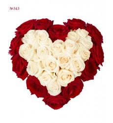 Цветочная композиция из 29 роз «Веление сердца»