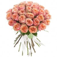 Букет из 31 розы Дэвид Остин «Палермо»