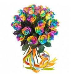 Букет из 29 радужных роз «Радужные эмоции»