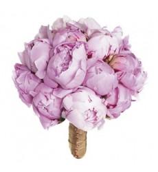 Букет невесты из 15 нежно-розовых пионов «Хранительница очага»