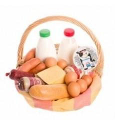 Подарочная корзина с продуктами «Домик в деревне»