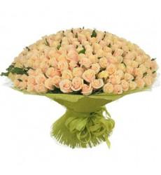 Букет из 251 нежной розы «Любовная меланхолия»