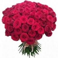 Букет из 101 красной розы  «Вулкан чувств»
