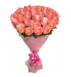Букет из 25 роз «Коралловый сон»