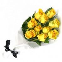 Букет из 11 жёлтых роз «Вместе к солнцу»