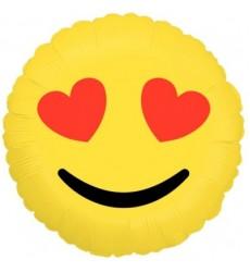 Воздушный шар смайлик «Любовь в глазах»