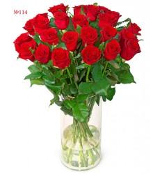 Букет из 25 красных роз «Итальянская страсть»