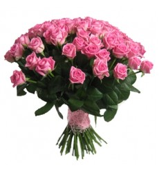 Букет из 51 розовой розы «Розовая пастель»