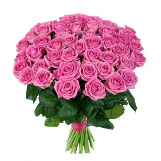 Букет из 55 розовых роз «Милана»
