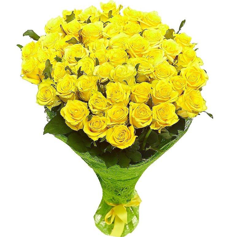 Букет из 41 розы желтого цвета  «Счастье мое »