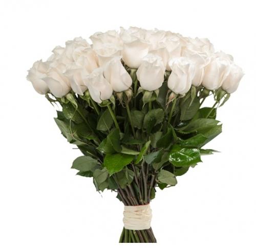 Букет из 51 белой розы «Шепот сердца»