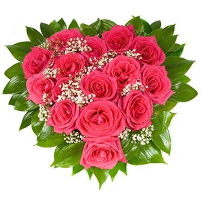 Цветочная композиция из 15 розовых роз «Розовое джелато»