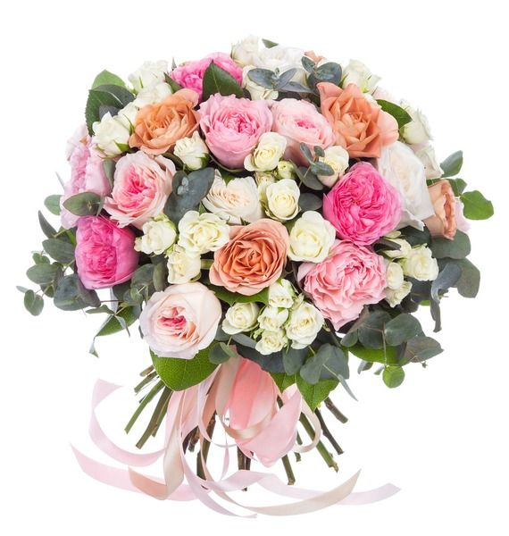 Букет из кустовых роз «Альва»